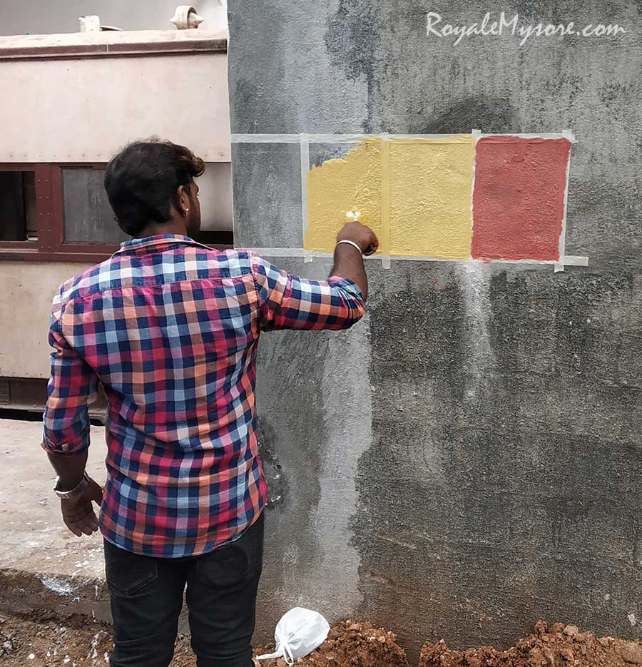 Testing the paint?