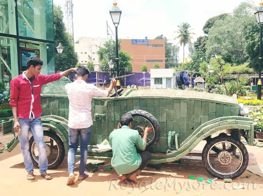 Floral Vintage Car