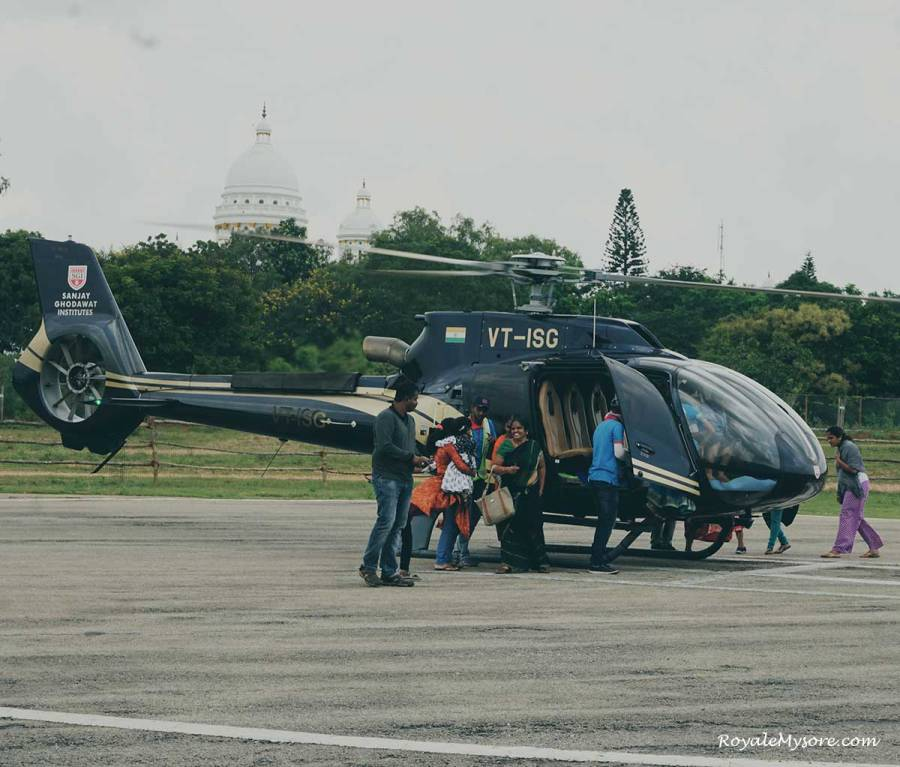 Boarding Helicopter